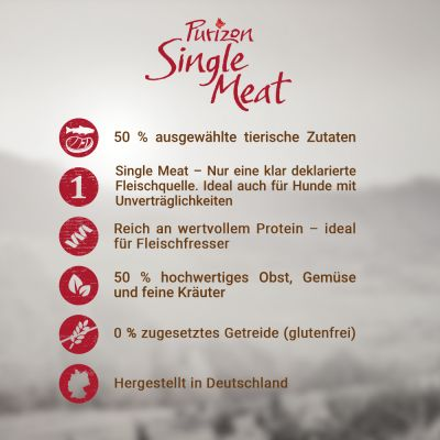 Prezzo speciale! 2 x 1 kg  Purizon Single Meat