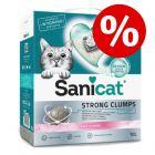 Prix avantageux ! Litière agglomérante Sanicat 10 L pour chat