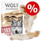 Prix avantageux ! Lot Oreilles à mâcher Wolf of Wilderness pour chien