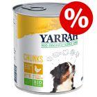 Prix avantageux ! 6 x 820 g Boîtes Yarrah Bio pour chien 4,92 kg