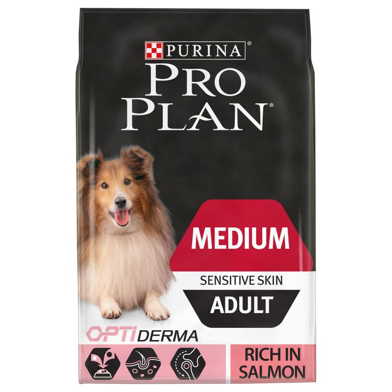 Pro Plan Adult Medium Sensitive Skin OptiDerma - Salmon