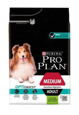 PRO PLAN Medium Adult Lamb & Rice OPTIDIGEST