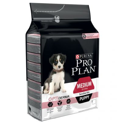 Pro Plan Medium Puppy Sensitive Optiderma, łosoś i ryż
