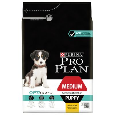 Pro Plan Medium Puppy Sensitive OptiDigest Pollo & Riso