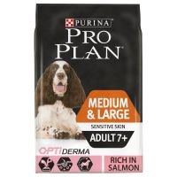 Pro Plan Senior Medium/Large Sensitive Skin OptiDerma Salmon