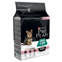 Pro Plan Small & Mini Puppy Sensitive Optiderma, łosoś i ryż