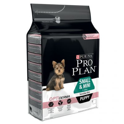 Pro Plan Small/Mini Puppy Sensitive OptiDerma Salmone & Riso