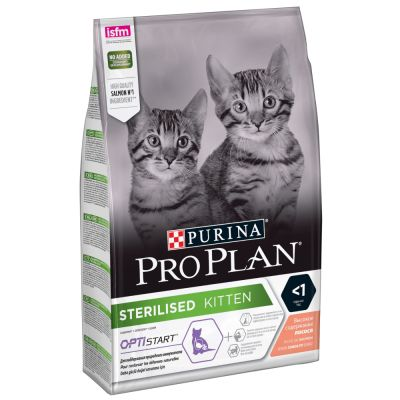 Pro Plan Sterilised Kitten с лососем
