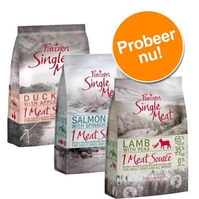 Probeerpakket: Purizon Single Meat 3 x 1 kg