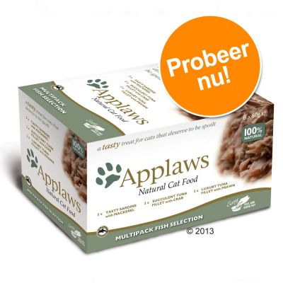 Probeerpakket Applaws Cat Pot Selection 8 x 60 g Kattenvoer