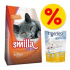 Probeerprijs: Smilla Kattenvoer 1 kg + 5L Tigerino Crystals!