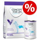 Probierangebot: 1 kg Trocken- & 6 x 400 g Nassnahrung Concept for Life Veterinary Diet Dog Renal