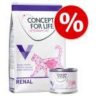 Probierangebot: 3 kg + 6 x 200 g Concept for Life Veterinary Diet Renal