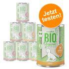 Probierangebot: zooplus Bio Katzenfutter 6 x 400 g