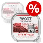 Probierknaller: Wolf of Wilderness Adult 6 x 300 g - Schale