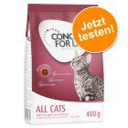 Probierpack: 400 g Concept for Life Katzentrockenfutter zum Sonderpreis!