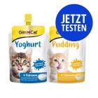 Probierpaket GimCat Pudding & Yoghurt für Katzen