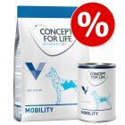 Probierpaket: 1 kg Trocken- & 6 x 400 g Nassnahrung Concept for Life Veterinary Diet Dog Mobility