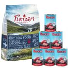 Probierset: 1 kg Purizon Puppy - getreidefrei & 6 x 400 g Rocco Junior
