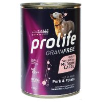 Prolife Grain Free Adult Sensitive Medium/Large Maiale