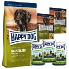 Provpack: Happy Dog New Zeeland torr- & våtfoder + snack