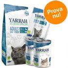 Provpack: Yarrah Organic med fisk torrfoder + våtfoder + snacks