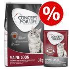 Prøvepakke: Concept for Life 3 kg tørfoder + 12 x 85 g vådfoder