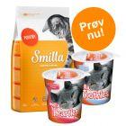 Prøvepakke: 1 kg Smilla tørfoder + 2 x 125 g Smilla snacks