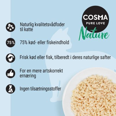 Prøvepakke: Purizon 400 g  & Cosma Nature 6 x 70 g