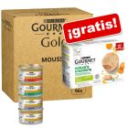Purina Gourmet Gold 96 x 85 g + 12 x 85 g Nature's Creation ¡gratis!