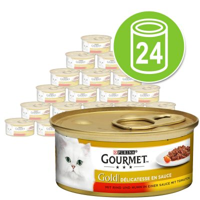 Purina Gourmet Gold Guiso a la cazuela 24 x 85 g - Pack Ahorro