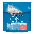 PURINA ONE Chat Stérilisé saumon, blé