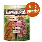 Purina AdVENTuROS Nuggets 8 x 300 g snacks en oferta: 6 + 2 ¡gratis!
