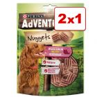Purina AdVENTuROS Nuggets 2 x 300 g snacks para perros en oferta: 1 + 1 ¡gratis!