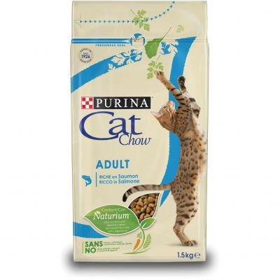 PURINA Cat Chow Adult saumon, thon pour chat