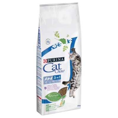 Purina Cat Chow 3in1 ricco in Tacchino