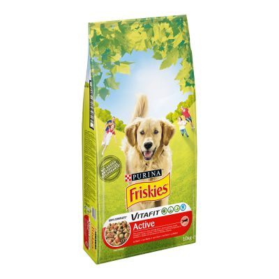 Purina Friskies Adult Hund Active med okse