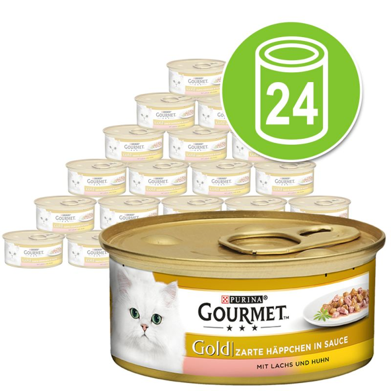Purina Gourmet Gold Bocaditos en Salsa 24 x 85 g - Pack Ahorro
