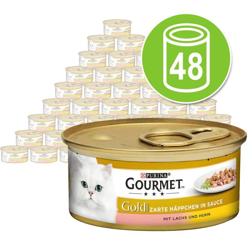 Purina Gourmet Gold Bocaditos en Salsa 48 x 85 g - Pack Ahorro