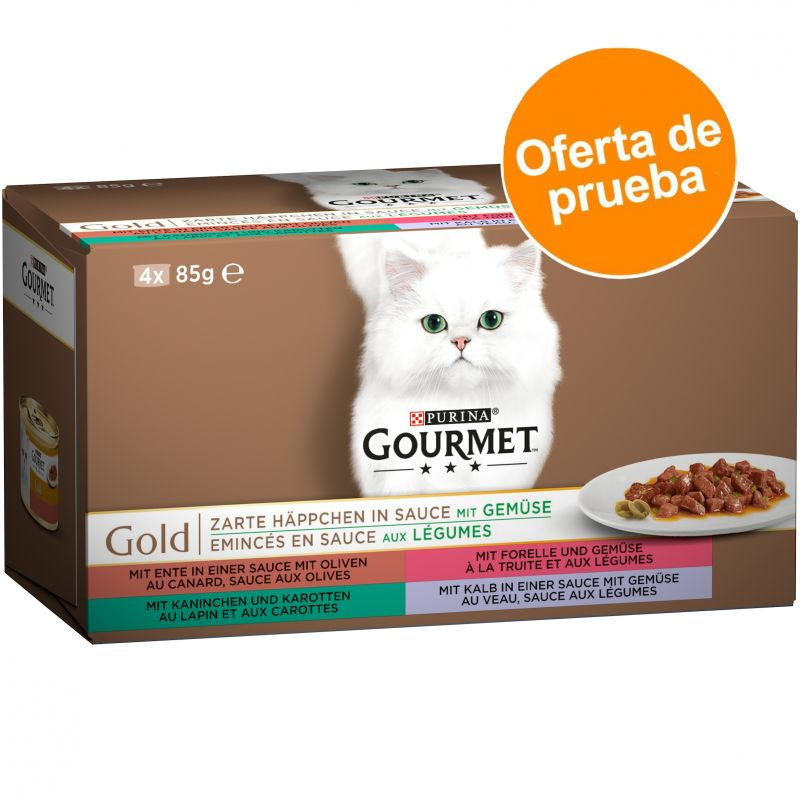 Purina Gourmet Gold Variado en latas 4 x 85 g - Pack de prueba