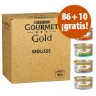Purina Gourmet Gold 96 x 85 g en oferta: 86 + 10 ¡gratis!
