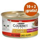Purina Gourmet Gold 12 x 85 g en oferta: 10 + 2 ¡gratis!