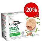 Purina Gourmet Nature's Creation comida húmida 12 x 85 g com desconto!