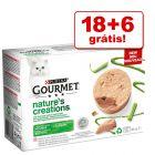 Purina Gourmet Nature's Creation comida húmida 24 x 85 g em promoção: 18 + 6 grátis!