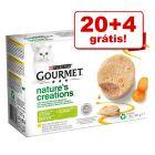 Purina Gourmet Nature's Creation comida húmida 24 x 85 g em promoção: 20 + 4 grátis!!