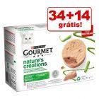 Purina Gourmet Nature's Creation comida húmida 48 x 85 g em promoção: 34 + 14 grátis!
