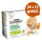 Purina Gourmet Nature's Creation 36 x 85 g em promoção: 24 + 12 grátis!