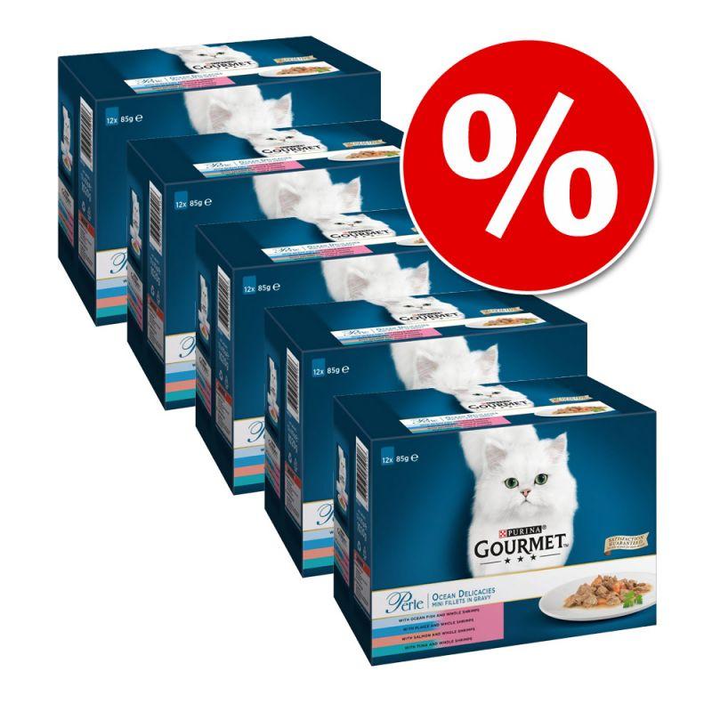 Purina Gourmet Perle 60 x 85 g megapack comida húmeda en sobres para gatos