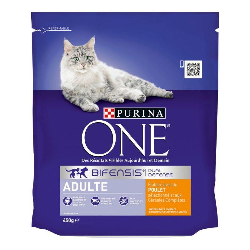 PURINA ONE Adulte poulet, céréales complètes pour chat