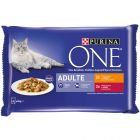PURINA ONE Adulte 4 x 85 g pour chat